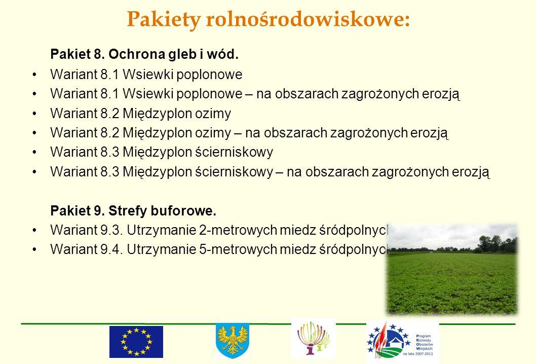 Pakiety rolnośrodowiskowe: Pakiet 8. Ochrona gleb i wód. Wariant 8.1 Wsiewki poplonowe Wariant 8.1 Wsiewki poplonowe – na obszarach zagrożonych erozją