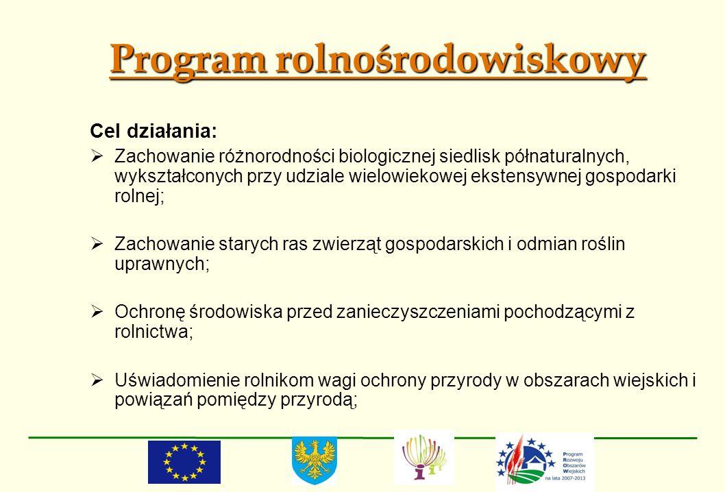 Program rolnośrodowiskowy Cel działania: Zachowanie różnorodności biologicznej siedlisk półnaturalnych, wykształconych przy udziale wielowiekowej ekst