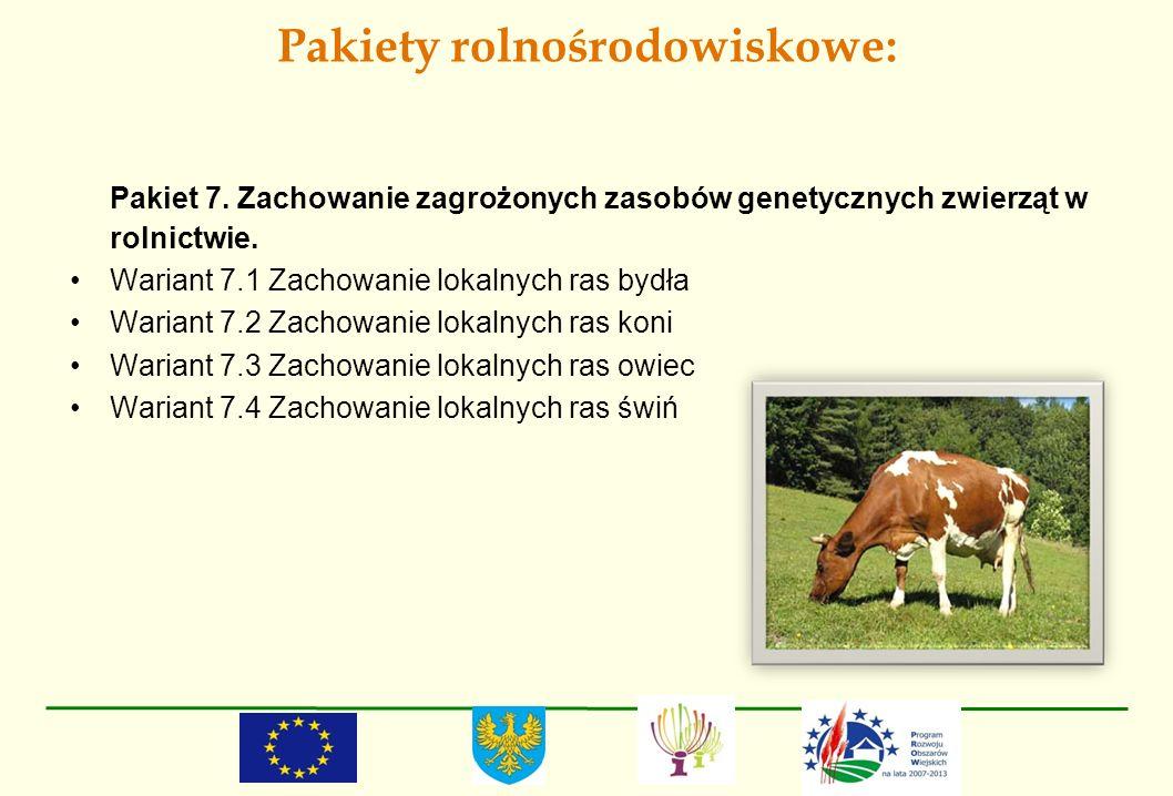 Pakiety rolnośrodowiskowe: Pakiet 7. Zachowanie zagrożonych zasobów genetycznych zwierząt w rolnictwie. Wariant 7.1 Zachowanie lokalnych ras bydła War