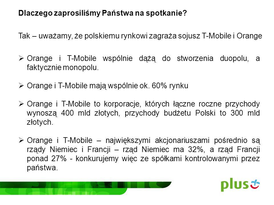 Dlaczego uważamy, że T-Mobile i Orange dążą do stworzenia de facto monopolu.