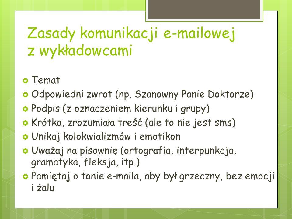 Gdzie szukać materiałów od wykładowców? Na stronach każdego wykładowcy po wpisaniu w wyszukiwarkę imienia i nazwiska Poprzez ftp.wsiz.rzeszow.pl