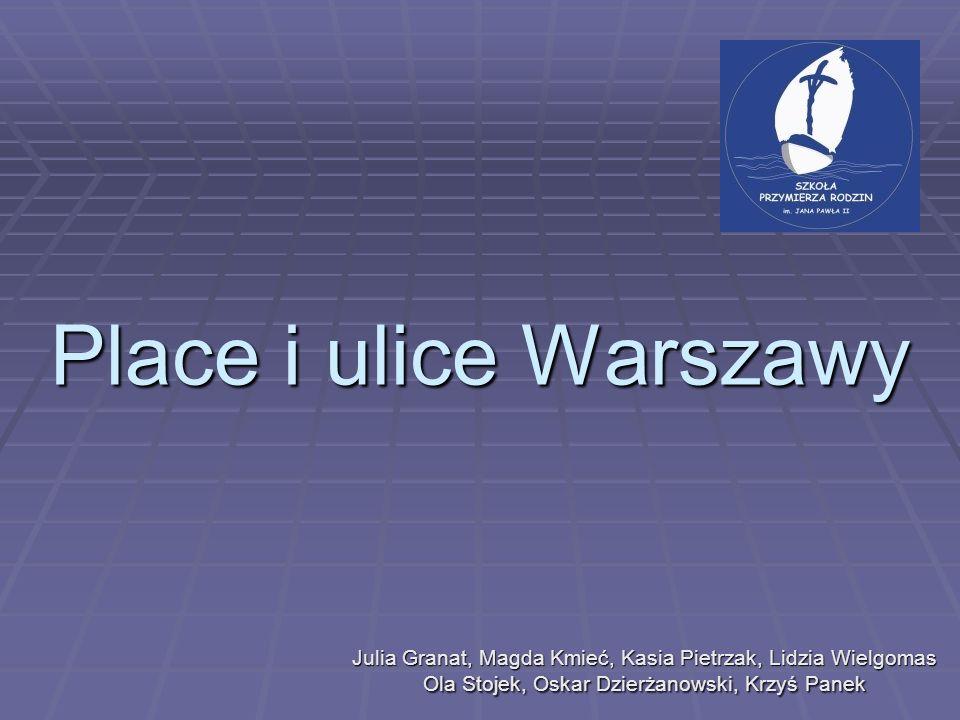 Place i ulice Warszawy Julia Granat, Magda Kmieć, Kasia Pietrzak, Lidzia Wielgomas Ola Stojek, Oskar Dzierżanowski, Krzyś Panek