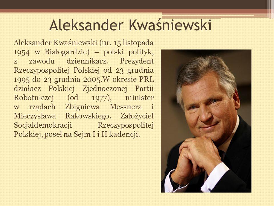 Lech Wałęsa Lech Wałęsa-(ur. 29 września 1943 w Popowie), polski polityk i działacz związkowy, z zawodu elektryk. Współzałożyciel i pierwszy przewodni