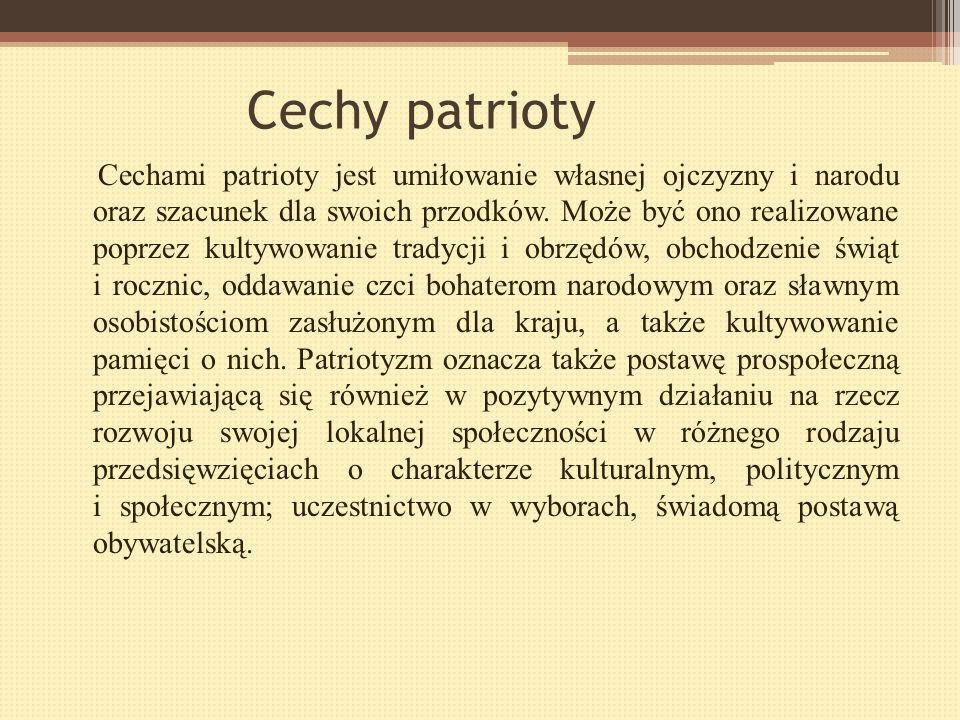 Patriotyzm Nazwa