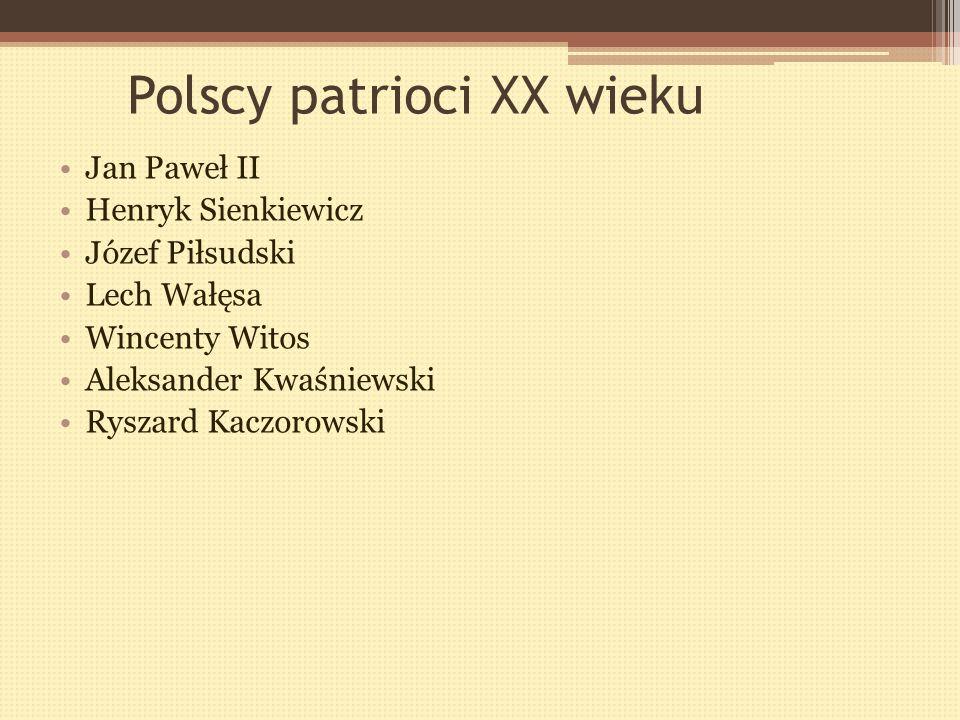 Patriotyzm Patriota to ktoś, kto jest dumny, że jest Polakiem.