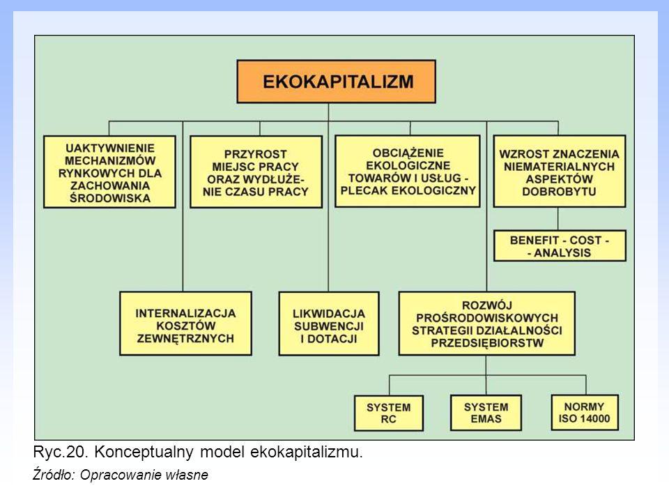 Ryc.20. Konceptualny model ekokapitalizmu. Źródło: Opracowanie własne