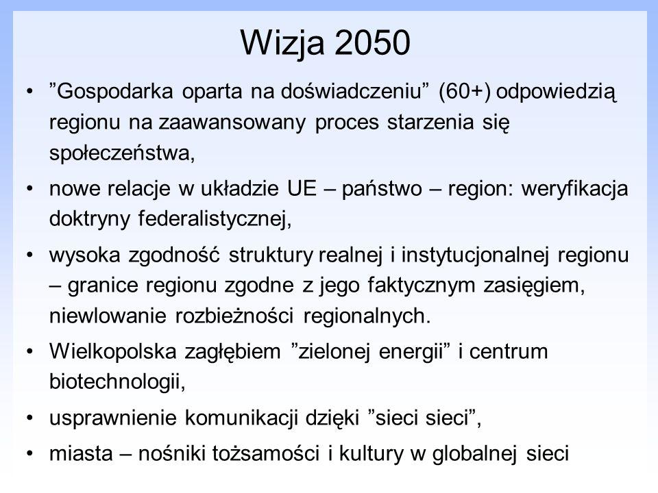 Wizja 2050 Gospodarka oparta na doświadczeniu (60+) odpowiedzią regionu na zaawansowany proces starzenia się społeczeństwa, nowe relacje w układzie UE