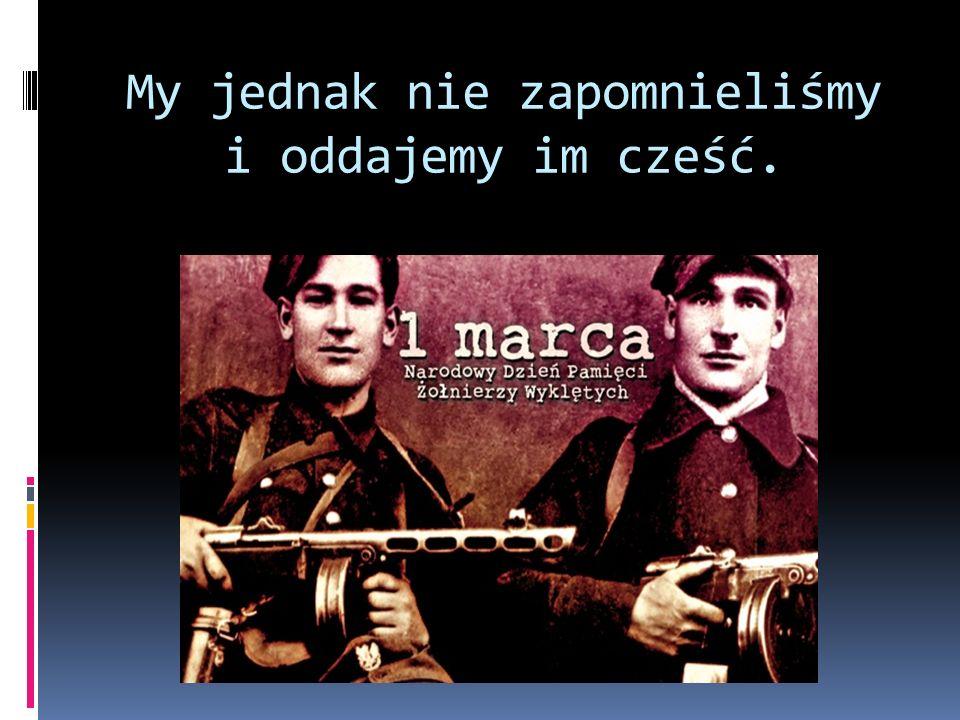 Ponad 20 tysięcy żołnierzy polskiego podziemia zginęło bądź zostało zamordowanych skrytobójczo w więzieniach NKWD i UB.