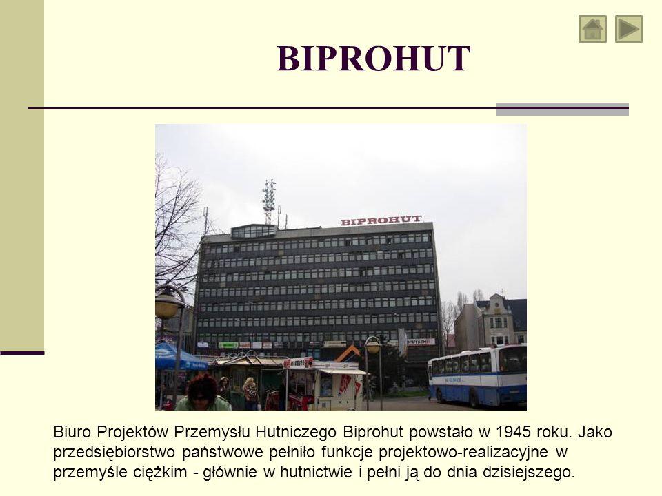 Biuro Projektów Przemysłu Hutniczego Biprohut powstało w 1945 roku. Jako przedsiębiorstwo państwowe pełniło funkcje projektowo-realizacyjne w przemyśl