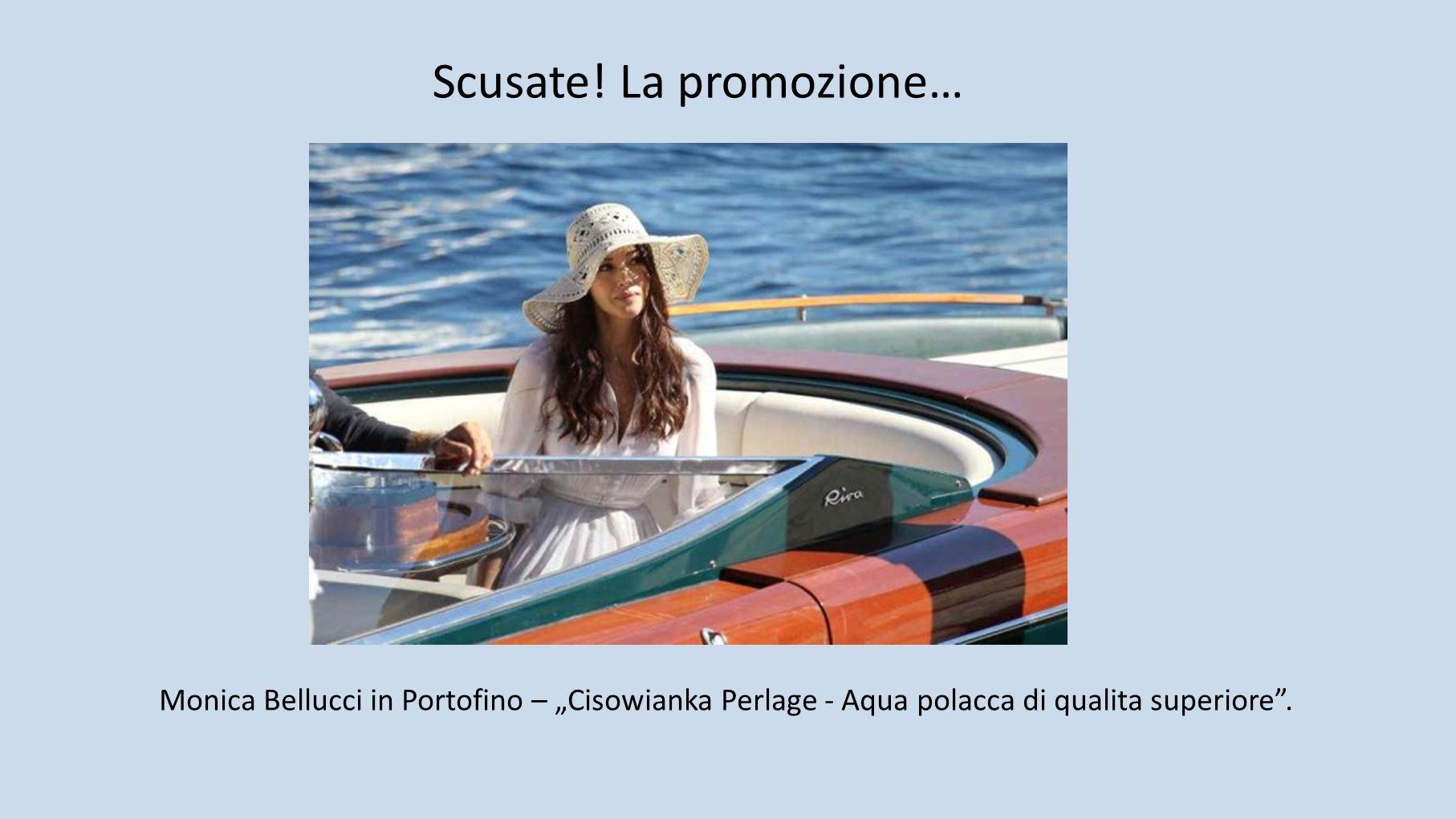 Monica Bellucci in Portofino – Cisowianka Perlage - Aqua polacca di qualita superiore.