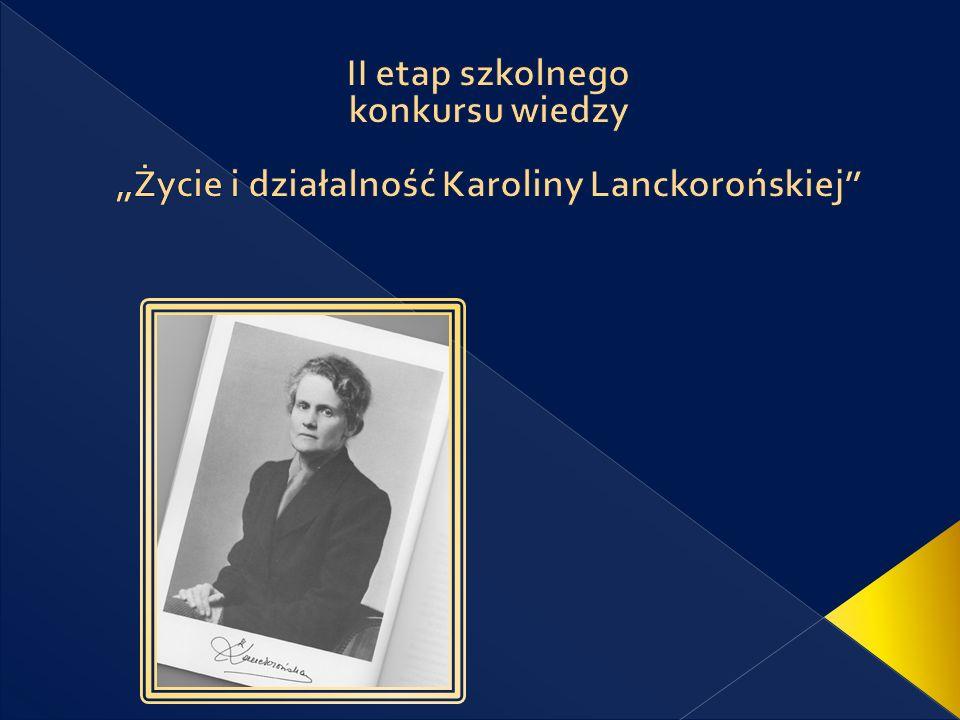 Jaki związek łączył ojca Karoliny Lanckorońskiej ze światem sztuki.