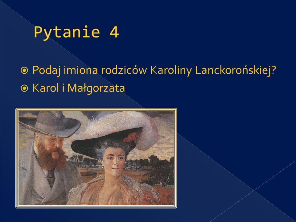 Sztuką jakiego artysty Karolina Lanckorońska była zafascynowana od najmłodszych lat? Michał Anioł