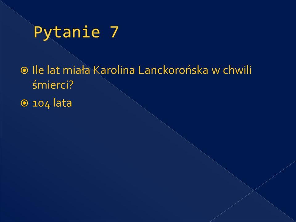 Które muzeum w Polsce dzięki Karolinie Lanckorońskiej posiada najważniejszą kolekcję wczesnego malarstwa włoskiego.