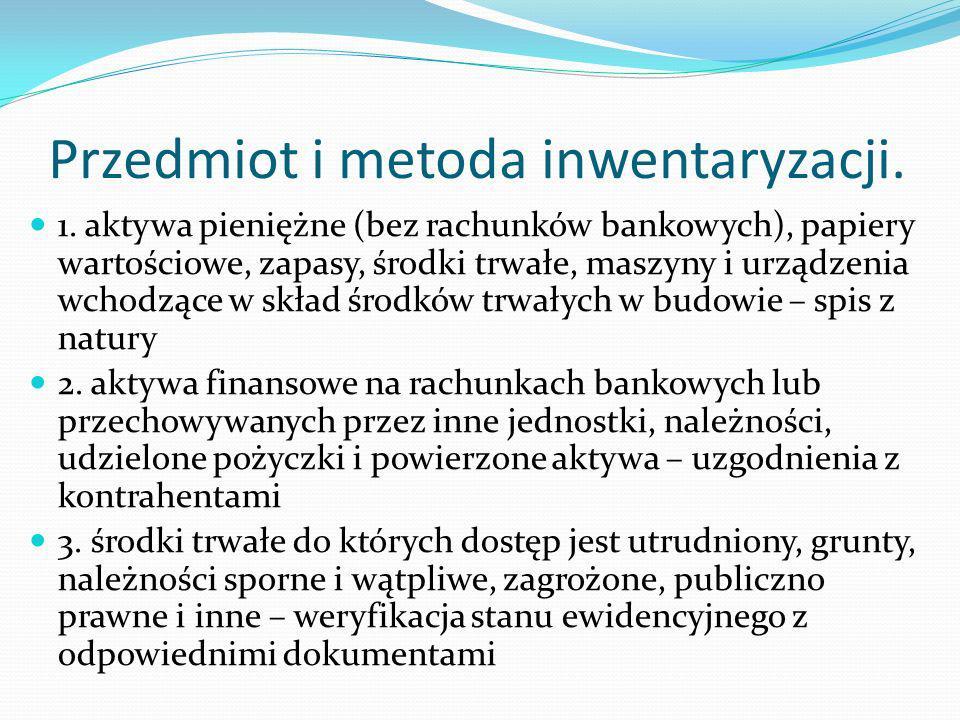 Przedmiot i metoda inwentaryzacji.1.
