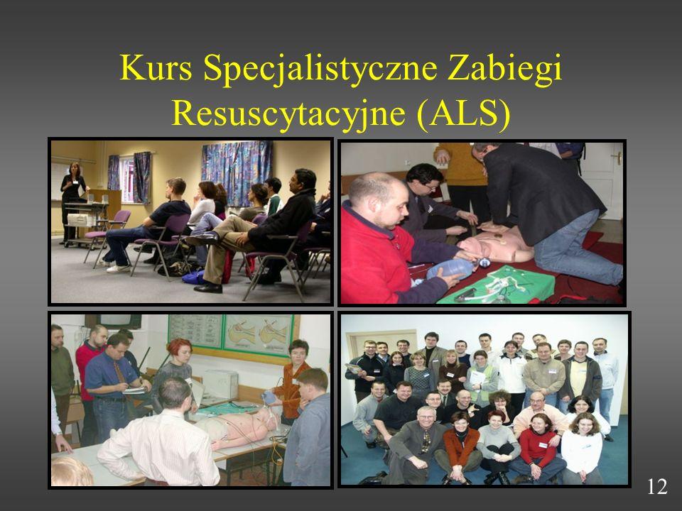 Kurs Specjalistyczne Zabiegi Resuscytacyjne (ALS) 12