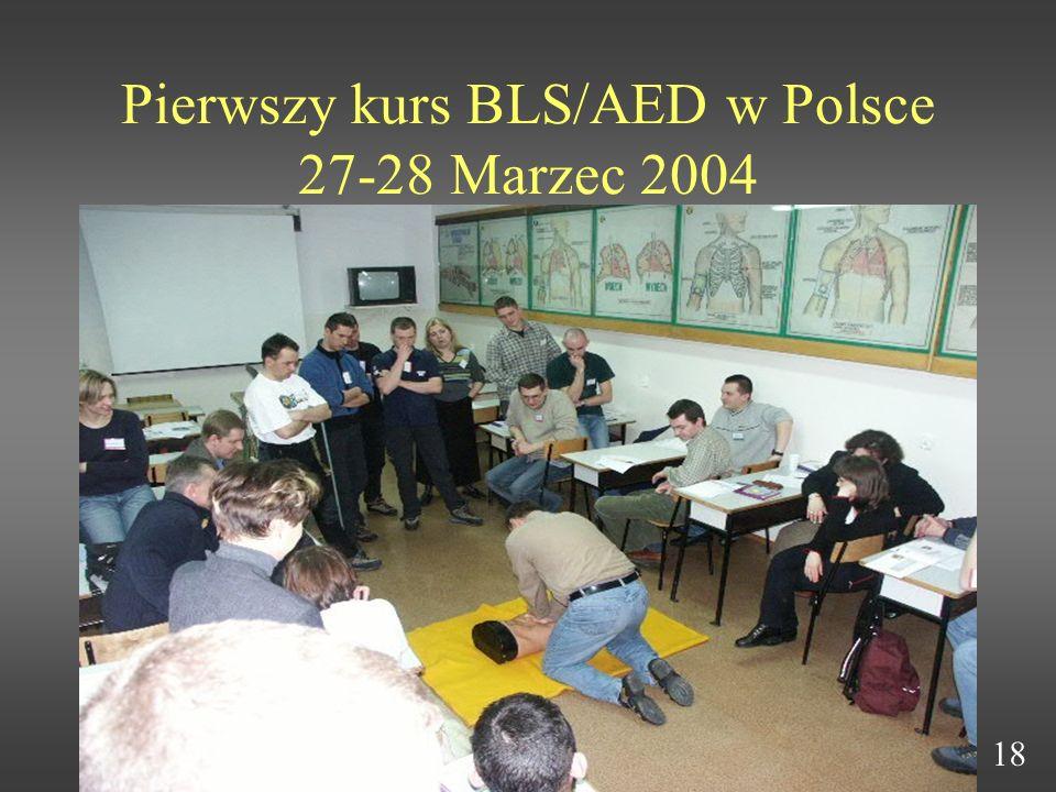 Pierwszy kurs BLS/AED w Polsce 27-28 Marzec 2004 18