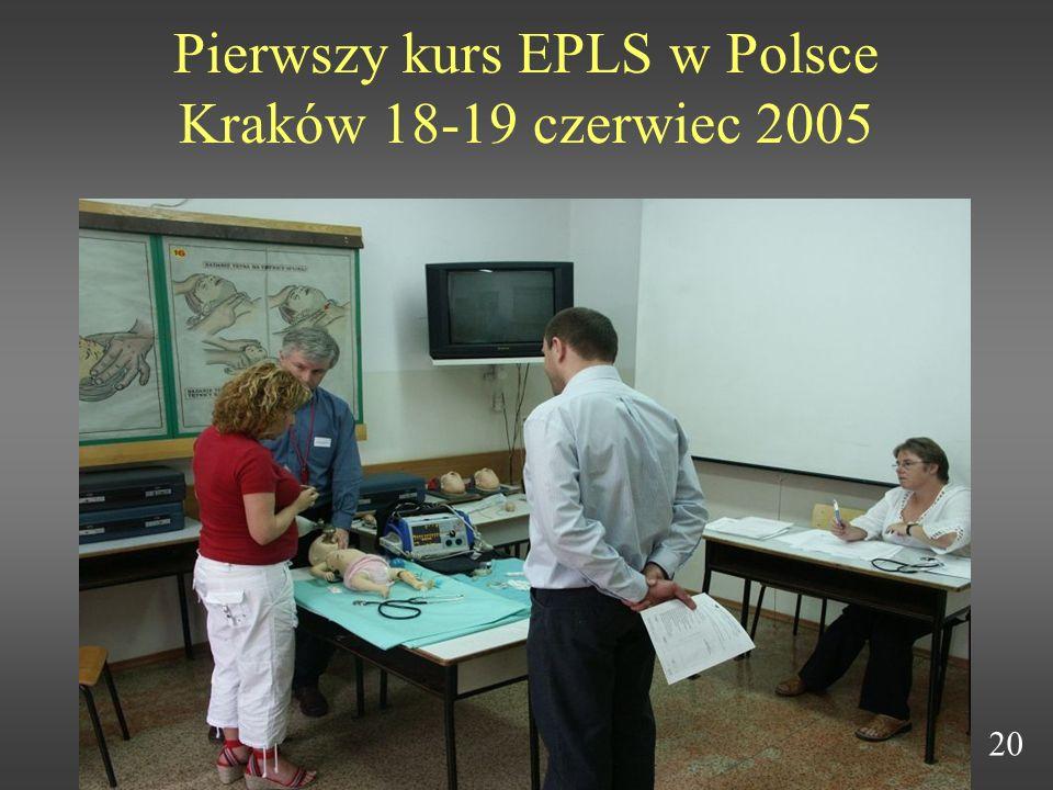 Pierwszy kurs EPLS w Polsce Kraków 18-19 czerwiec 2005 20