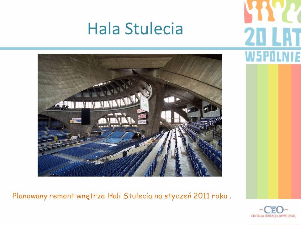 Hala Stulecia Planowany remont wnętrza Hali Stulecia na styczeń 2011 roku.