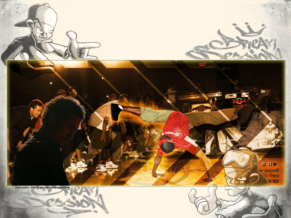 Prezentacja break|session BREAK SESSION 2006 - walki break dance 3 vs 3 - graffiti jam - koncerty hip-hop