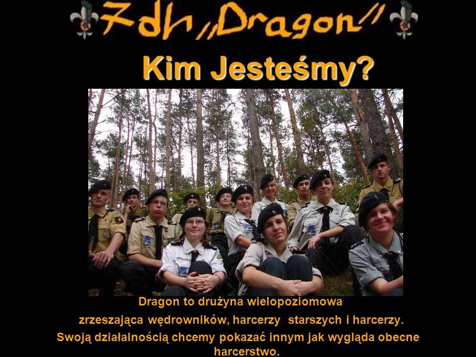 Kim Jesteśmy? Kim Jesteśmy? Dragon to drużyna wielopoziomowa zrzeszająca wędrowników, harcerzy starszych i harcerzy. Swoją działalnością chcemy pokaza