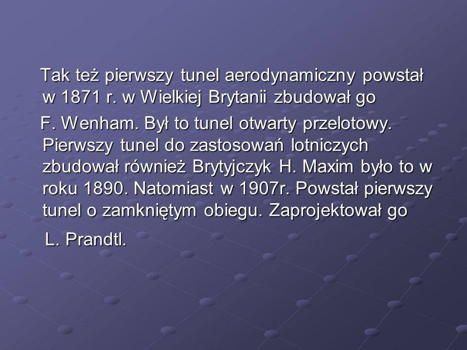 Polskie tunele aerodynamiczne W latach 1920- 1940, w okresie intensywnego rozwoju lotnictwa.
