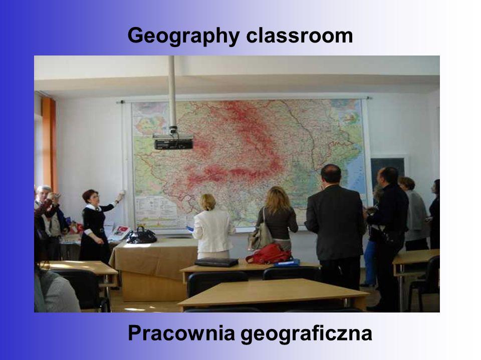 Geography classroom Pracownia geograficzna