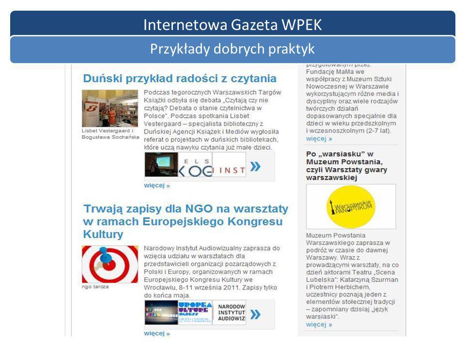 Internetowa Gazeta WPEK Przykłady dobrych praktyk