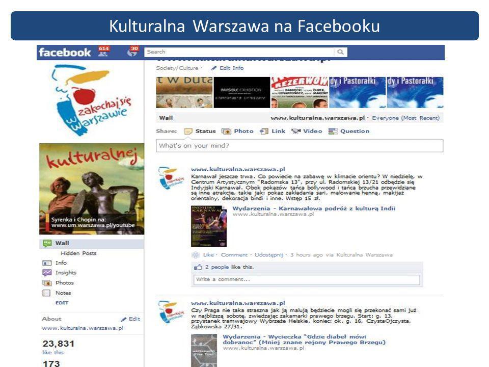 Kulturalna Warszawa na Facebooku