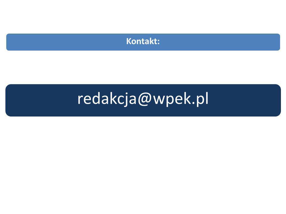 redakcja@wpek.pl Kontakt: