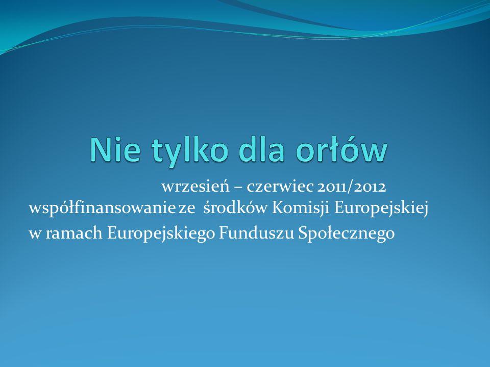 wrzesień – czerwiec 2011/2012 współfinansowanie ze środków Komisji Europejskiej w ramach Europejskiego Funduszu Społecznego