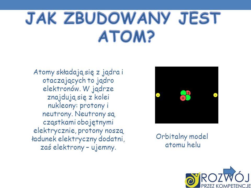 Atomy składają się z jądra i otaczających to jądro elektronów. W jądrze znajdują się z kolei nukleony: protony i neutrony. Neutrony są cząstkami oboję