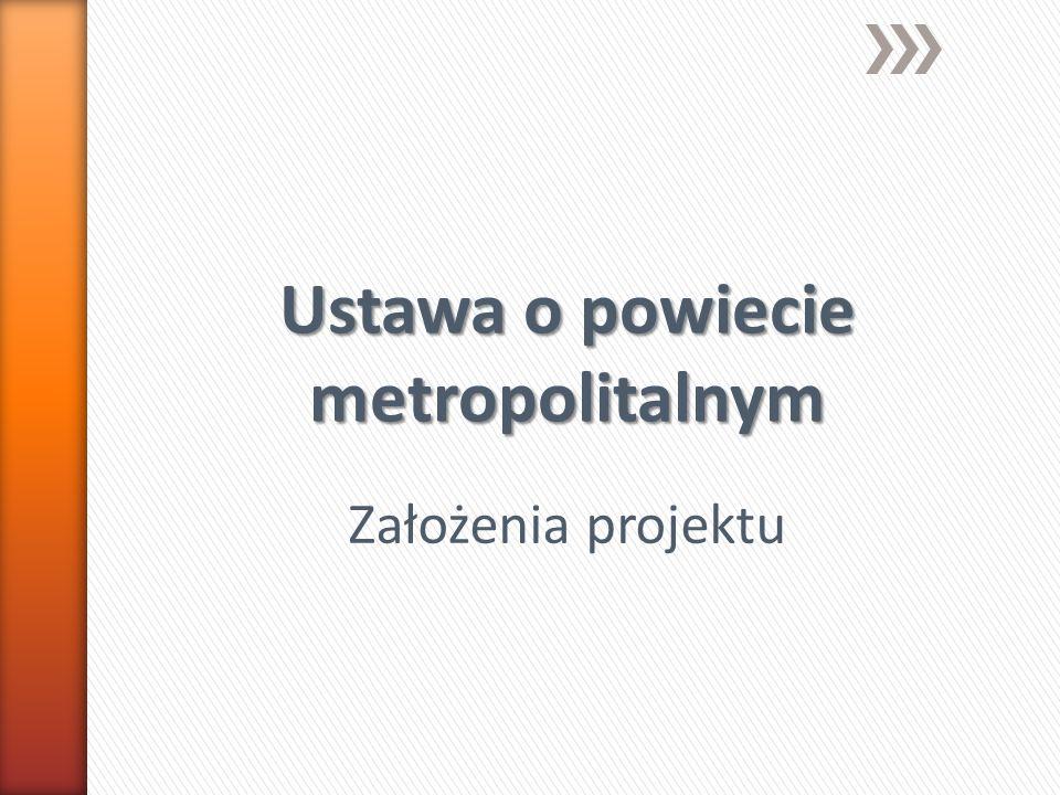 Ustawa o powiecie metropolitalnym Założenia projektu