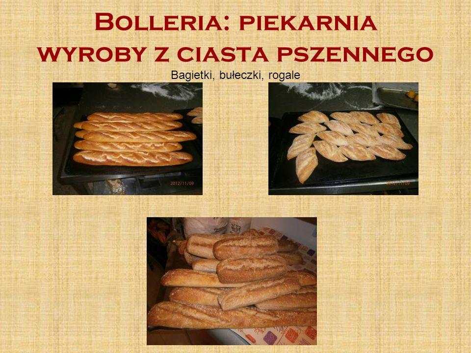 Bolleria: piekarnia wyroby z ciasta pszennego Bagietki, bułeczki, rogale