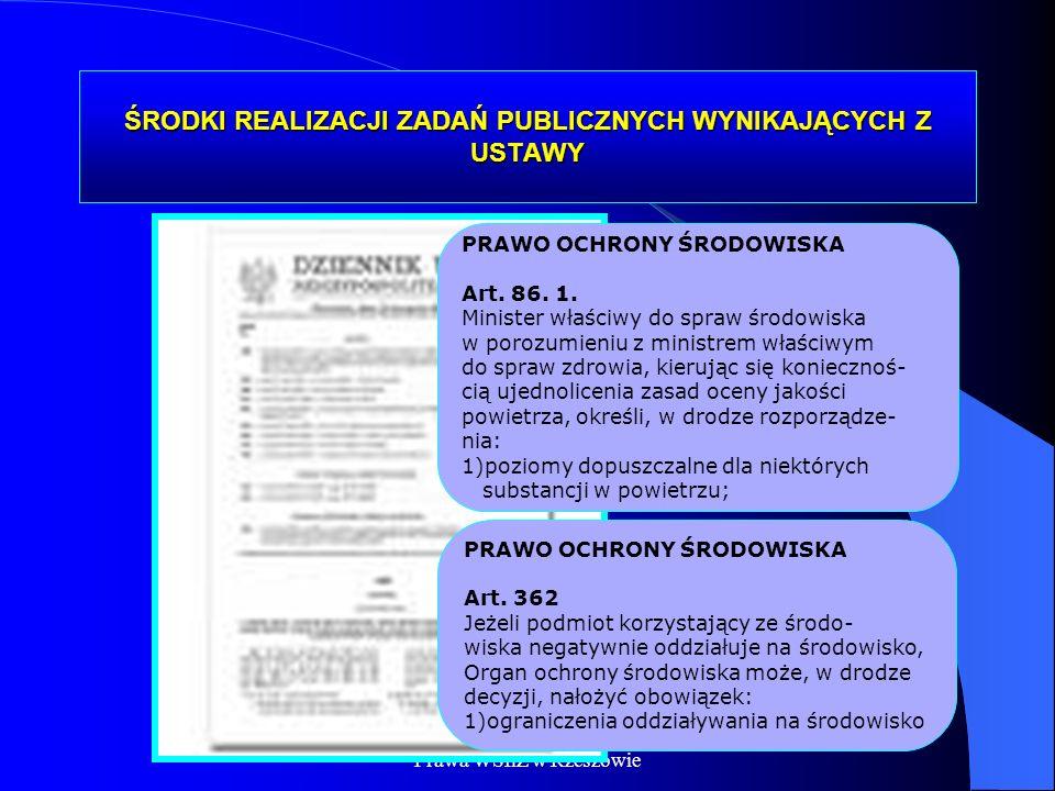 Dr Kamilla Kurczewska, Katedra Prawa WSIiZ w Rzeszowie ŚRODKI REALIZACJI ZADAŃ PUBLICZNYCH WYNIKAJĄCYCH Z USTAWY PRAWO OCHRONY ŚRODOWISKA Art. 86. 1.