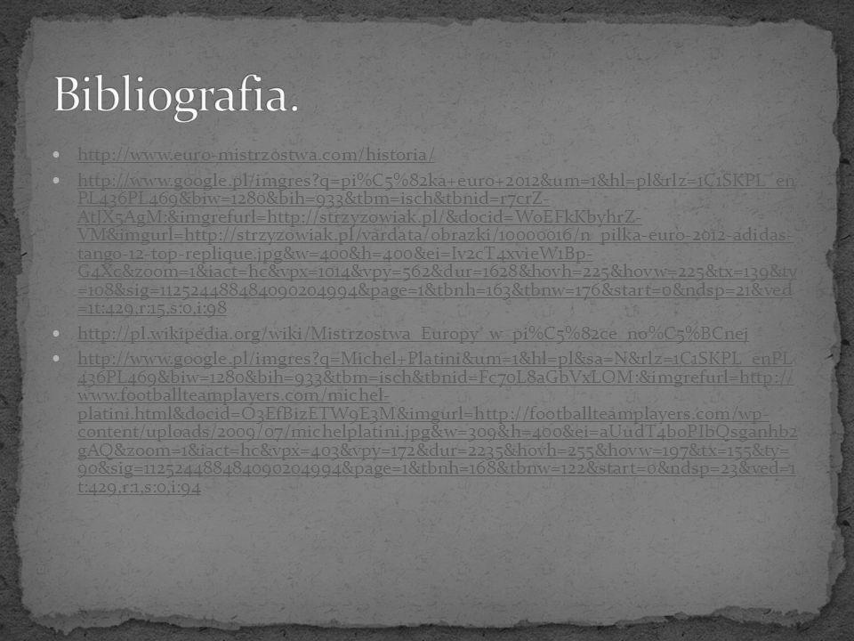 http://www.euro-mistrzostwa.com/historia/ http://www.google.pl/imgres?q=pi%C5%82ka+euro+2012&um=1&hl=pl&rlz=1C1SKPL_en PL436PL469&biw=1280&bih=933&tbm
