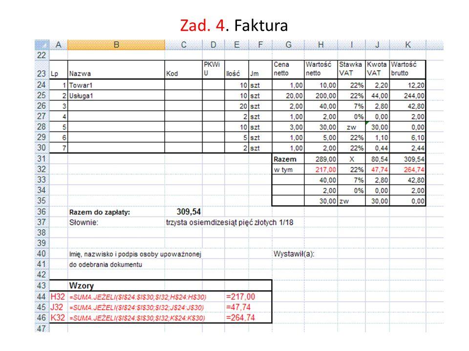 Baza danych w Excelu Baza danych w Excelu to dowolna grupa danych umieszczonych w skoroszycie (arkuszu), której pierwszy wiersz zawiera nagłówki określające znaczenie poszczególnych kolumn danych.