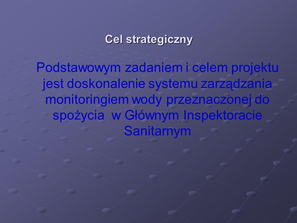 a szczegółowo: Kontynuacja wdrażania dyrektywy dotyczącej jakości wody do spożycia (opracowanie ujednoliconego tekstu ustawy określającej warunki funkcjonowania nadzoru na jakością wody przeznaczonej do spożycia), Wdrożenie procedur dotyczących ryzyka zdrowotnego związanego ze spożywaniem wody we wszystkich regionach Polski, Doskonalenie kwalifikacji pracowników Państwowej Inspekcji Sanitarnej, Państwowego Zakładu Higieny oraz związanych instytucji w zakresie Geograficznego Systemu Informatycznego oraz procedur informowania o ryzyku zdrowotnym