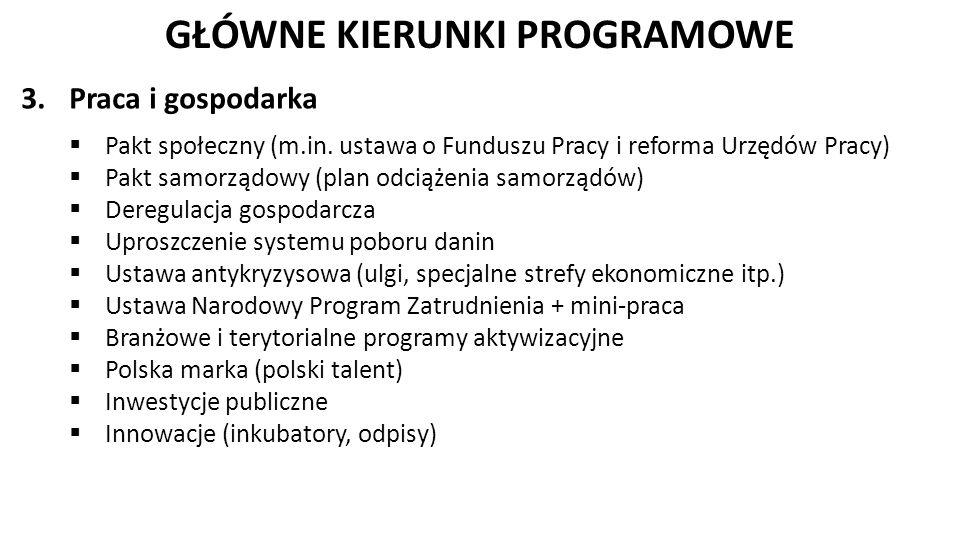 GŁÓWNE KIERUNKI PROGRAMOWE 4.Republikańskie państwo obywatelskie 5.