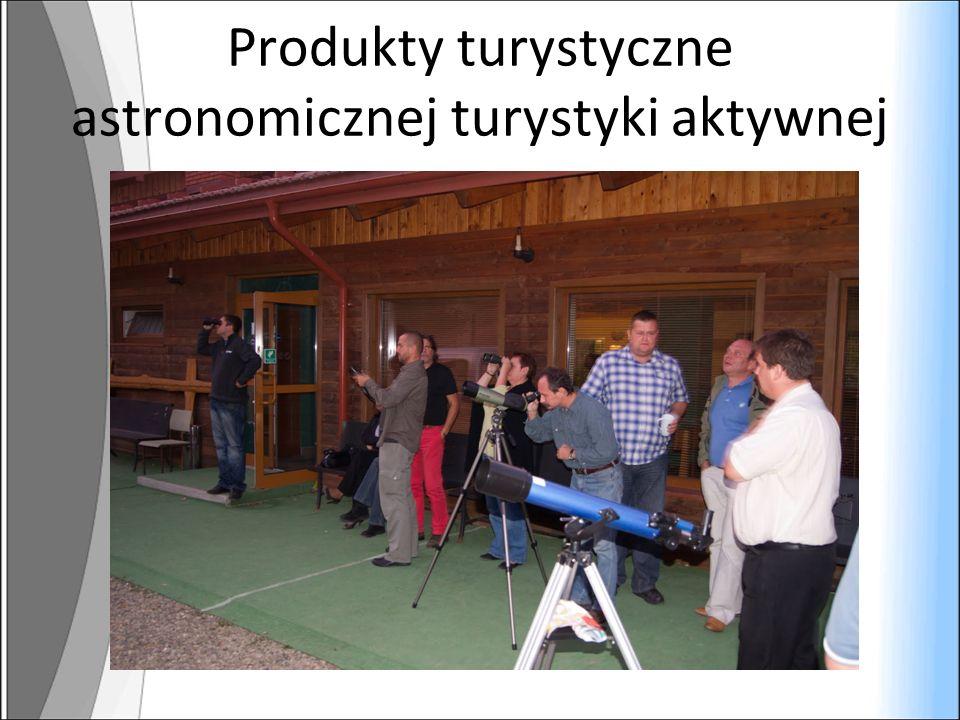 Produkty turystyczne astronomicznej turystyki aktywnej