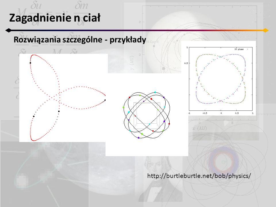 Zagadnienie n ciał Rozwiązania szczególne - przykłady http://burtleburtle.net/bob/physics/