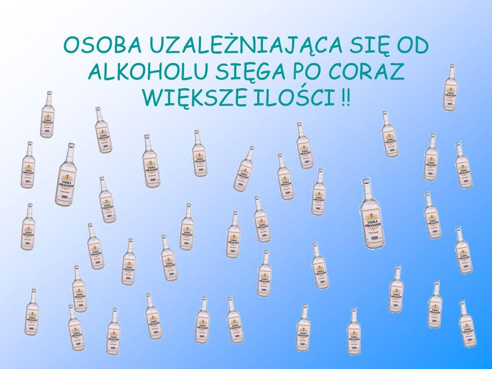 OSOBA UZALEŻNIAJĄCA SIĘ OD ALKOHOLU SIĘGA PO CORAZ WIĘKSZE ILOŚCI !!