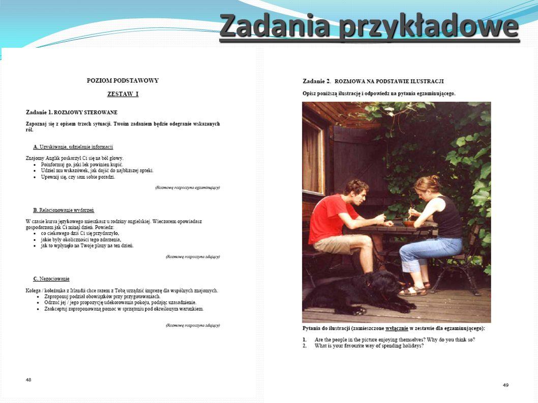 Zadania przykładowe