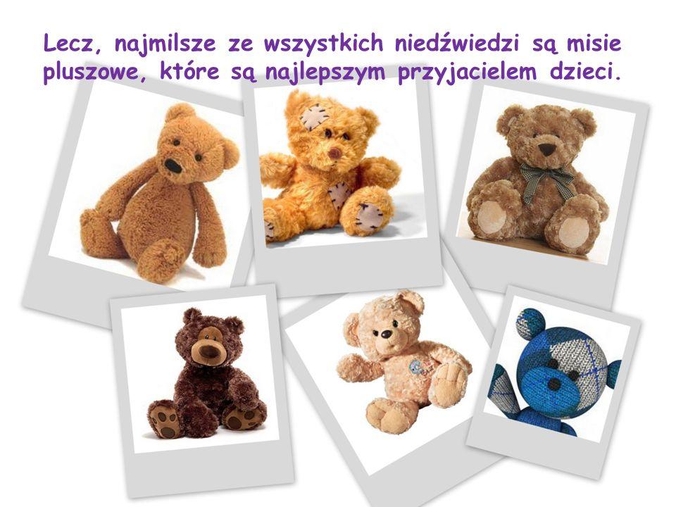Lecz, najmilsze ze wszystkich niedźwiedzi są misie pluszowe, które są najlepszym przyjacielem dzieci.