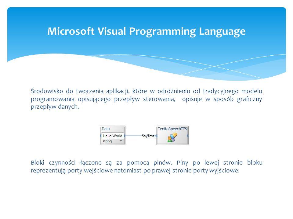 Środowisko do tworzenia aplikacji, które w odróżnieniu od tradycyjnego modelu programowania opisującego przepływ sterowania, opisuje w sposób graficzn