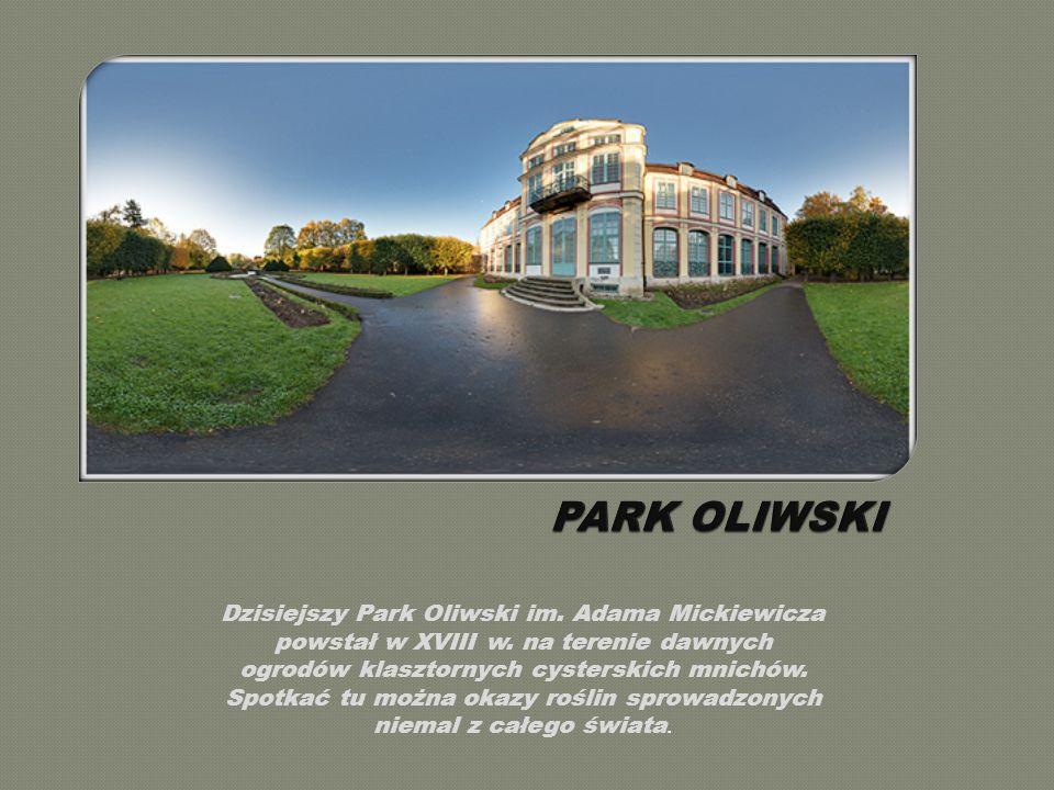 Dzisiejszy Park Oliwski im.Adama Mickiewicza powstał w XVIII w.