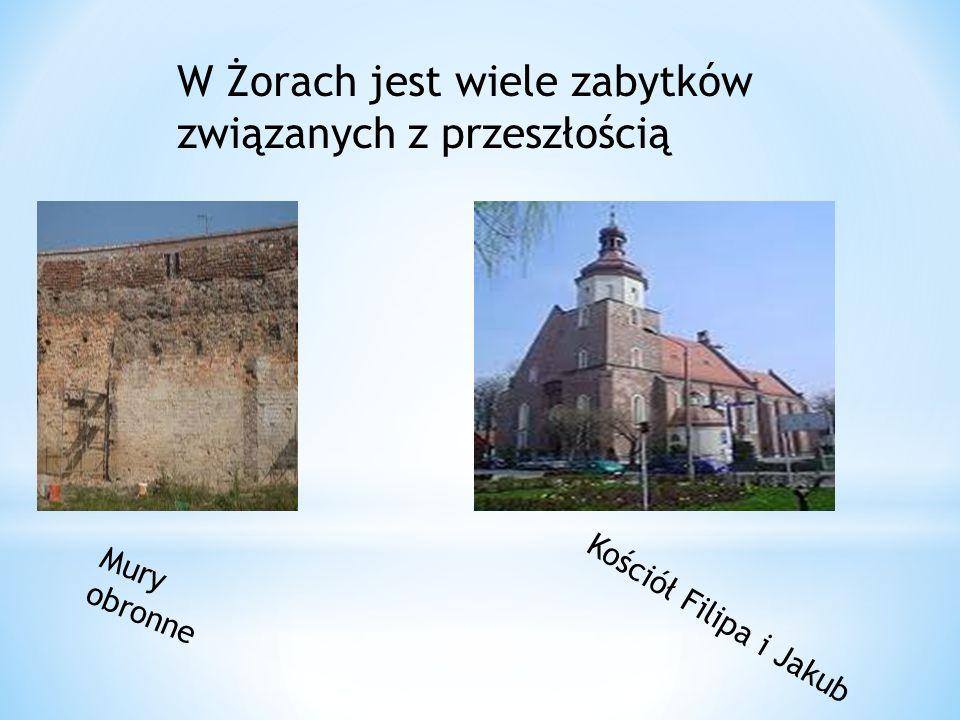 W Żorach jest wiele zabytków związanych z przeszłością Mury obronne Kościół Filipa i Jakub