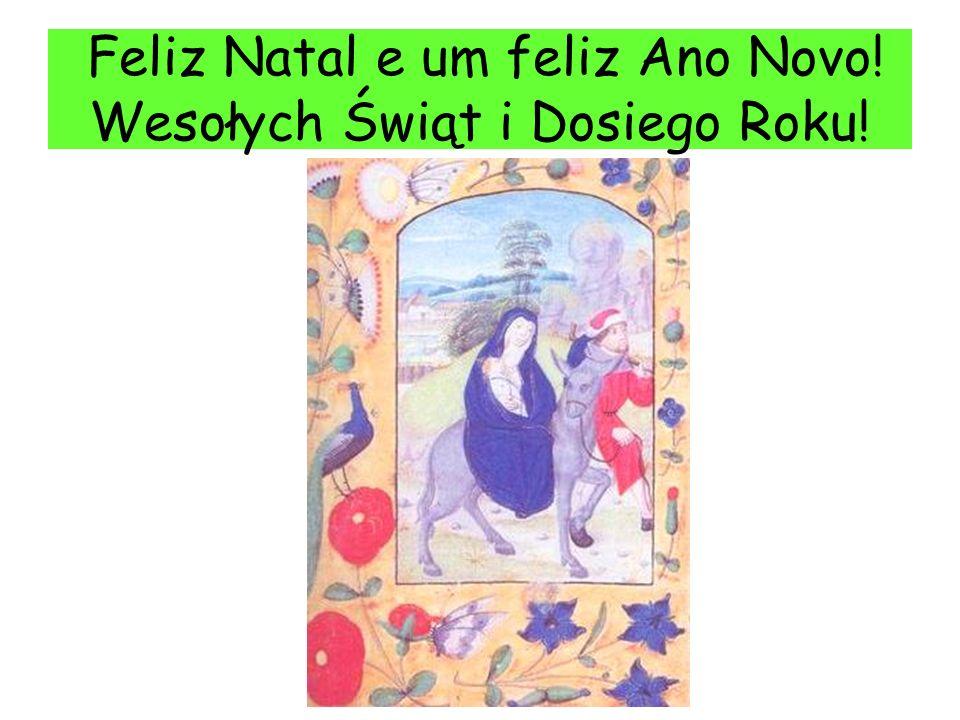 Feliz Natal e um feliz Ano Novo! Wesołych Świąt i Dosiego Roku!