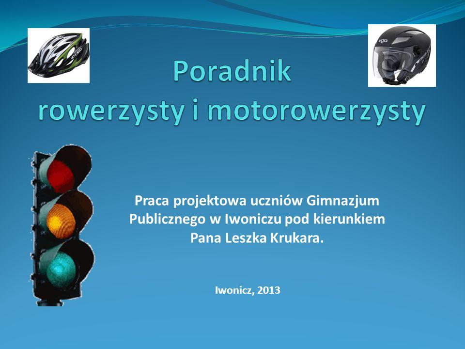 Projekt jest poradnikiem, w którym przybliżamy podstawowe informacje o poruszaniu się rowerem oraz motorowerem po drogach publicznych oraz podpowiemy jak zdobyć wymarzone uprawnienia.