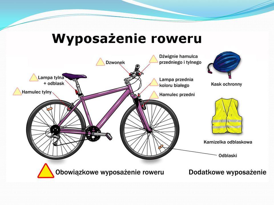 Uprawnienia do jazdy rowerem Dzieci poniżej 10 roku życia mogą jeździć na rowerze wyłącznie pod opieką osób dorosłych.