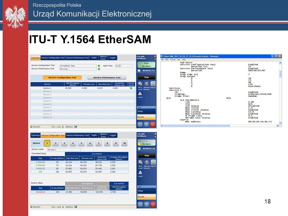 ITU-T Y.1564 EtherSAM 18